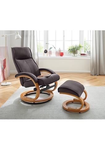 my home Relaxsessel »Lille«, aus weichem Luxus-Microfaser Bezug und einem schönen Holzgestell, Sitzhöhe 46 cm kaufen