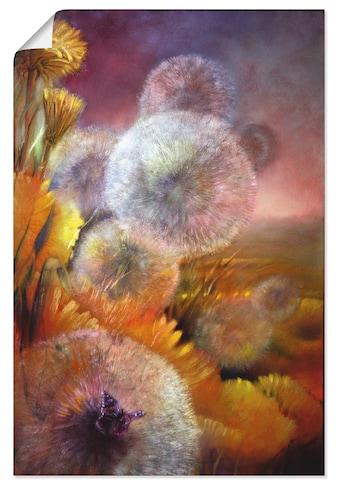 Artland Wandbild »Löwenzahn und Schmetterling«, Blumen, (1 St.), in vielen Größen &... kaufen
