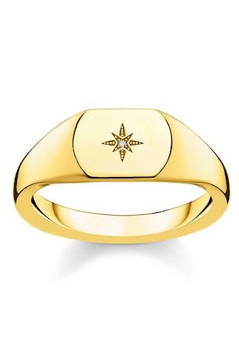 THOMAS SABO Diamantring »D_TR0038 - 924 - 14 - 48, 50, 52, 54, 56, 58, 60, Vintage Stern gold« kaufen