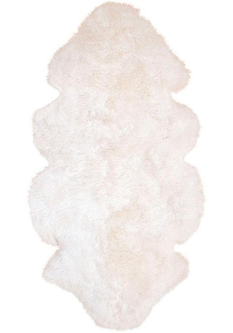 Heitmann Felle Fellteppich »Lammfell 155 weiß«, fellförmig, 70 mm Höhe, echtes... kaufen