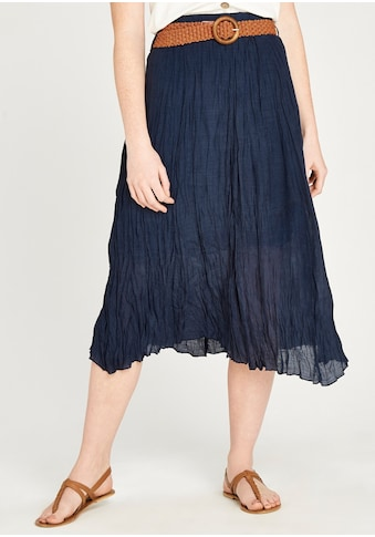 Apricot Crinklerock »Shimmer Crinkle Belted Skirt«, Mit Flechtgürtel kaufen