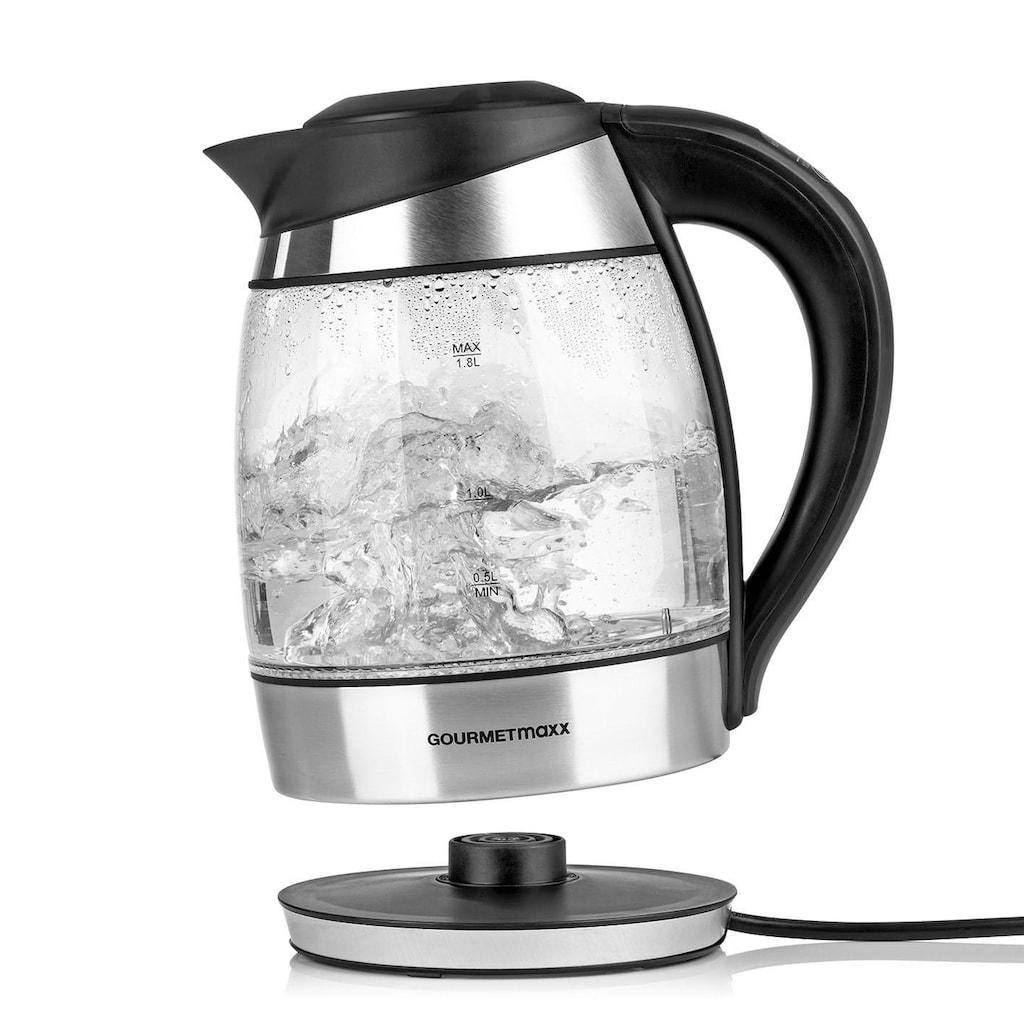 GOURMETmaxx Wasserkocher »Glas-Wasserkocher«, 1,8 l, 2200 W