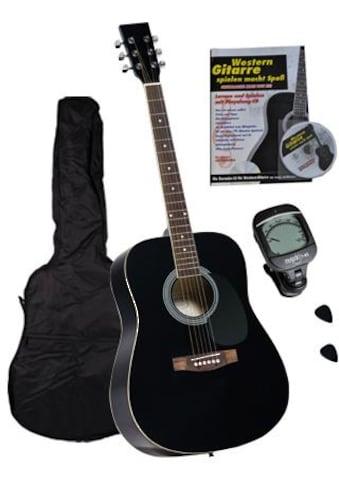 Clifton Westerngitarre »Dreadnought Gitarre mit Stimmgerät,Tasche, Heft und CD«, 4/4, Komplettset kaufen