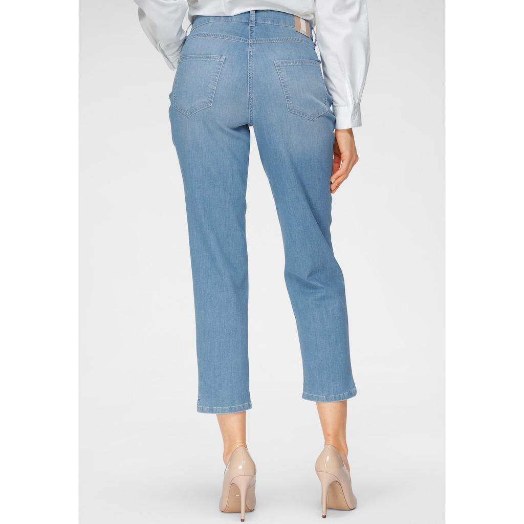 MAC 7/8-Jeans »Melanie-Cropped«, Verkürzte Form mit kleinem Schlitz am Saum
