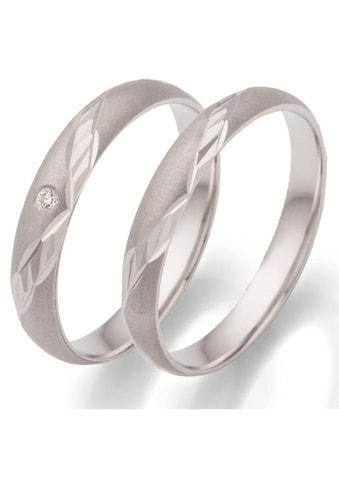 Firetti Trauring mit Gravur »rhodiniert, sandmatt, Diamantschnitt, 3,5 mm breit«,... kaufen