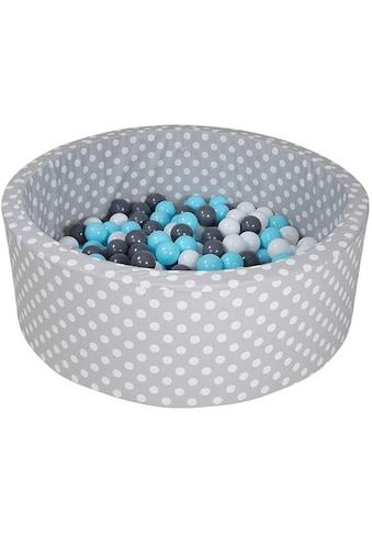 Knorrtoys® Bällebad »Soft, Grey white dots«, mit 300 Bällen creme/grey/lightblue; Made... kaufen