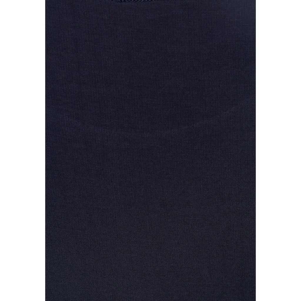 LASCANA T-Shirt, mit aufwendiger Ärmelverarbeitung