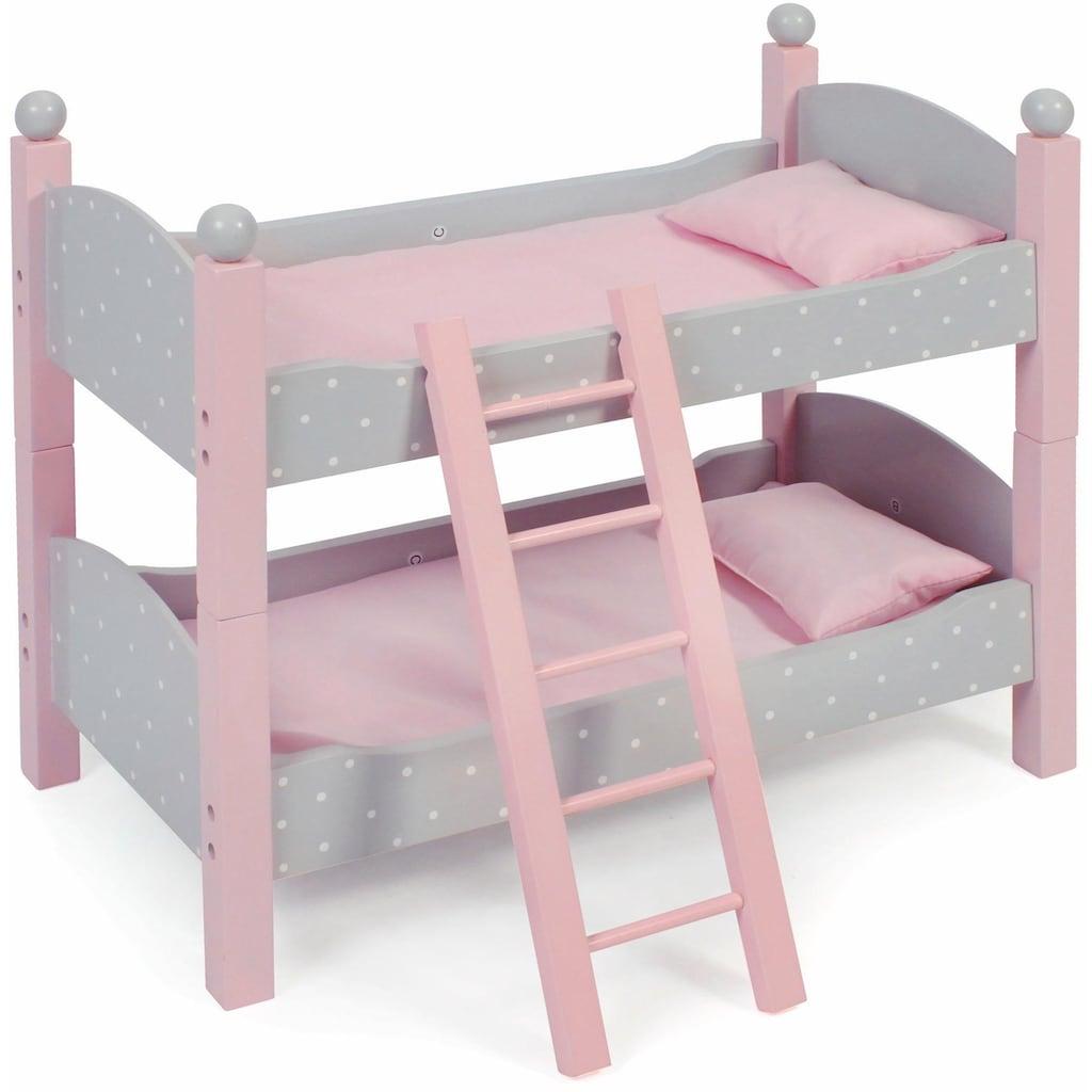 CHIC2000 Puppenbett »Puntos Grey«, auch als zwei Einzelbetten verwendbar