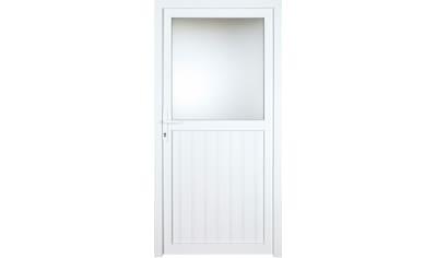 KM Zaun Nebeneingangstür »K606P«, BxH: 98x208 cm cm, weiß, links kaufen