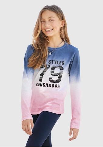 KangaROOS Langarmshirt, mit modischem Farbverlauf kaufen