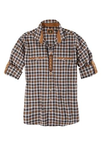 OS-Trachten Trachtenhemd, mit Lederimitat-Appliaktion kaufen