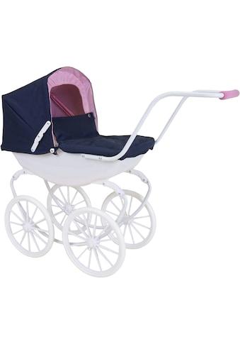 Knorrtoys® Puppenwagen »Classic - navy blue/rose/princess« kaufen