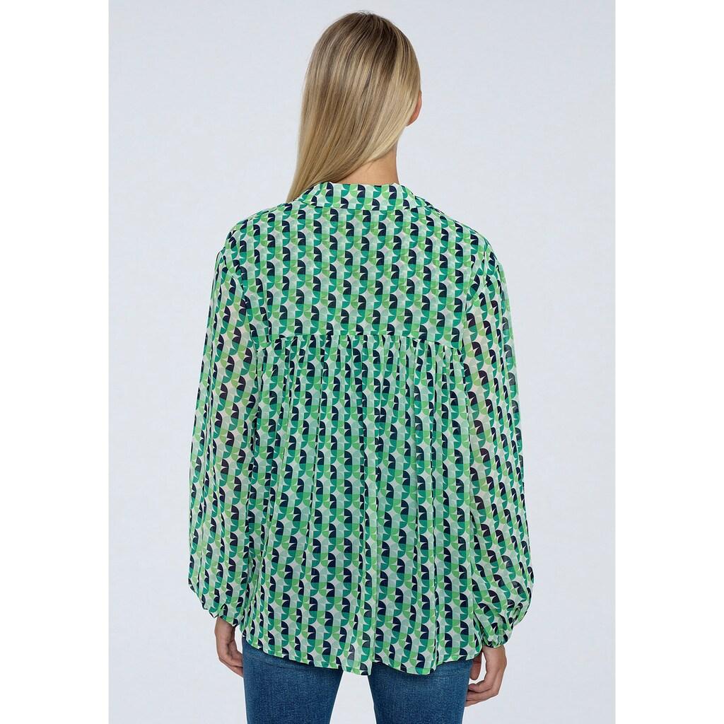 Pepe Jeans Schlupfbluse »ANDREA«, mit geometrischem allover Print und Bindedetail