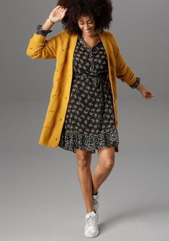 Aniston SELECTED Longstrickjacke, im aufwendigen Lochstrick kaufen