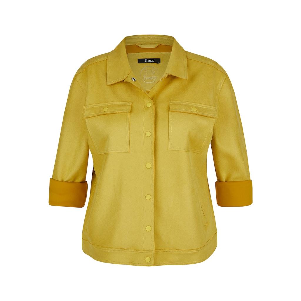 """FRAPP Jeansjacke, """"Golden Yellow"""" mit Druckknöpfen"""