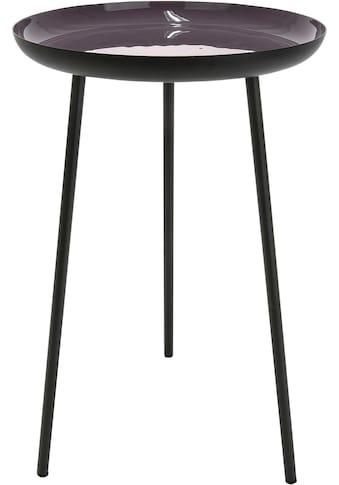 GILDE Beistelltisch »Tisch Celeste, schwarz/violett«, Höhe 49 cm, rund, Ø 28 cm, aus Metall, Wohnzimmer kaufen