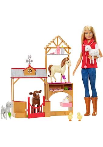 Mattel® Anziehpuppe »Barbie, Spaß auf dem Bauernhof Vet«, Spielset kaufen