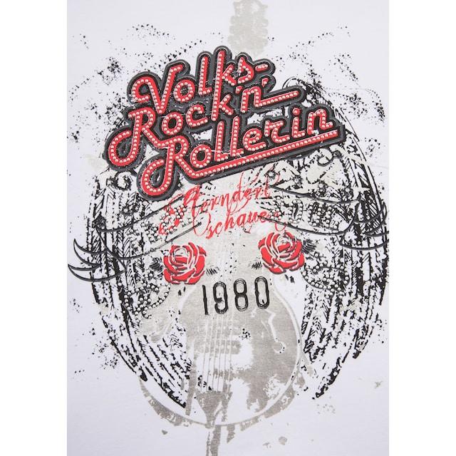 Andreas Gabalier Kollektion Trachtenshirt Damen mit Glitzersteinchen
