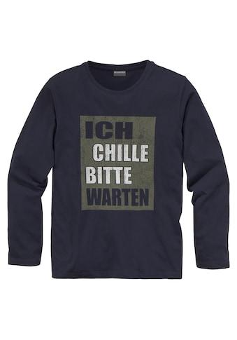 KIDSWORLD Langarmshirt »ICH CHILLE, BITTE WARTEN« kaufen