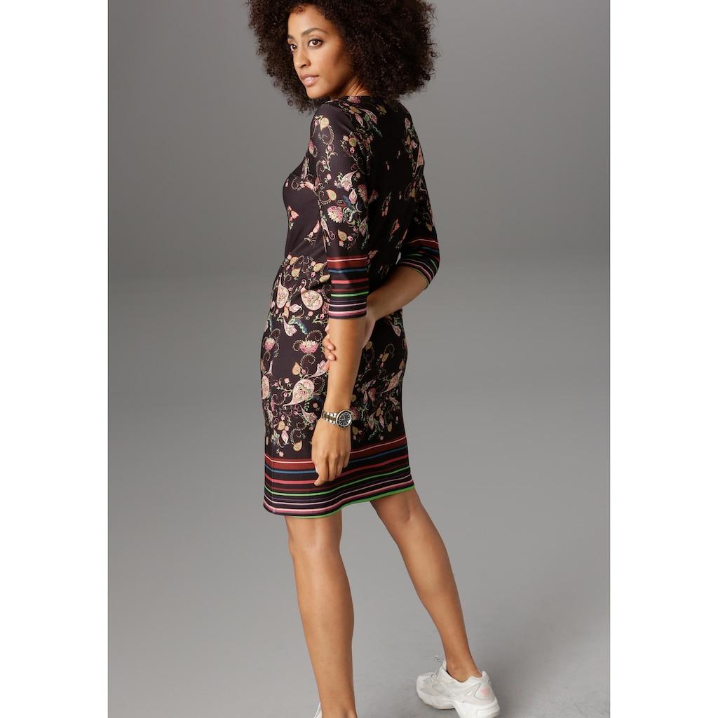 Aniston SELECTED Jerseykleid, mit gestreiften Bordüren