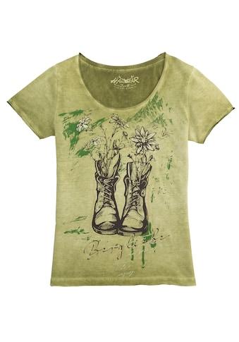 Hangowear Trachtenshirt »Wiara«, mit Glitzerelementen im Print kaufen