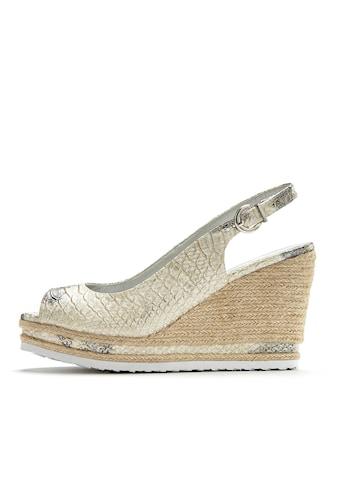 LASCANA High-Heel-Sandalette, mit Keilabsatz und Animal-Prägung kaufen