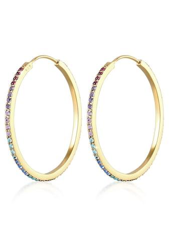 Elli Paar Creolen »0303381720, 0311540419«, mit Kristallen kaufen