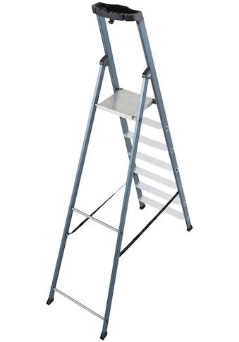 KRAUSE Stehleiter »SePro S«, Alu eloxiert, 1x7 Stufen, Arbeitshöhe ca. 350 cm kaufen