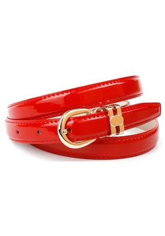 Anthoni Crown Ledergürtel, in schmaler Form aus Lackleder, schick und elegant kaufen