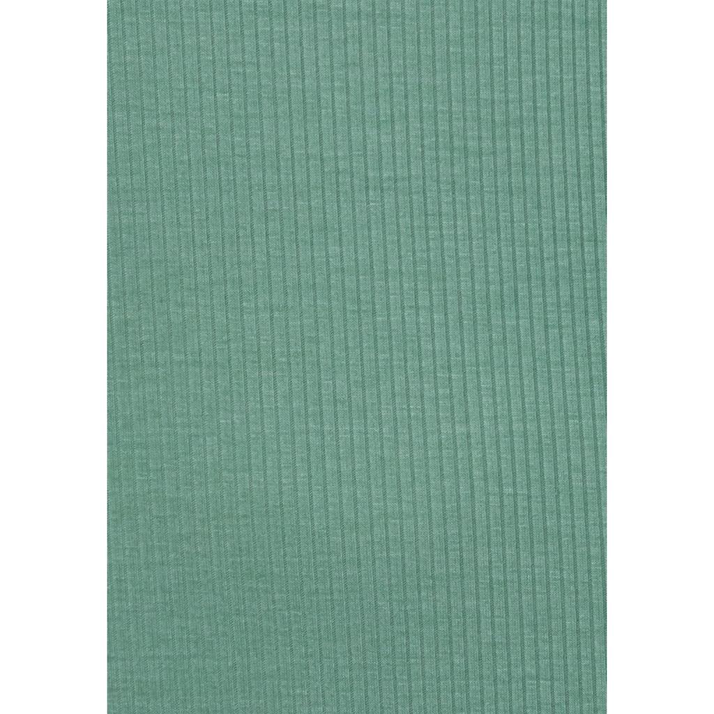 LASCANA Sleepshirt, in geripptem Material mit Tank Top Trägern