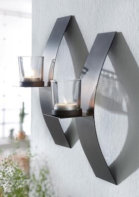 moderne Wandkerzenhalter aus Edelstahl