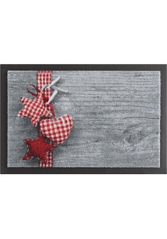 HANSE Home Fußmatte »Stern mit Herz«, rechteckig, 7 mm Höhe, Fussabstreifer, Fussabtreter, Schmutzfangläufer, Schmutzfangmatte, Schmutzfangteppich, Schmutzmatte, Türmatte, Türvorleger, rutschhemmend beschichtet kaufen