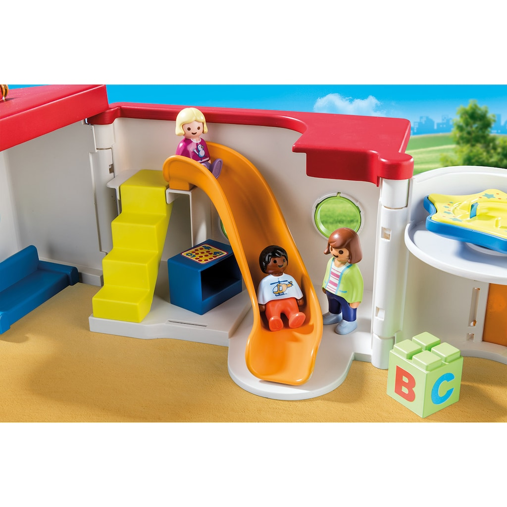 Playmobil® Konstruktions-Spielset »Mein Mitnehm-Kindergarten (70399), Playmobil 1-2-3«, (15 St.), Made in Europe
