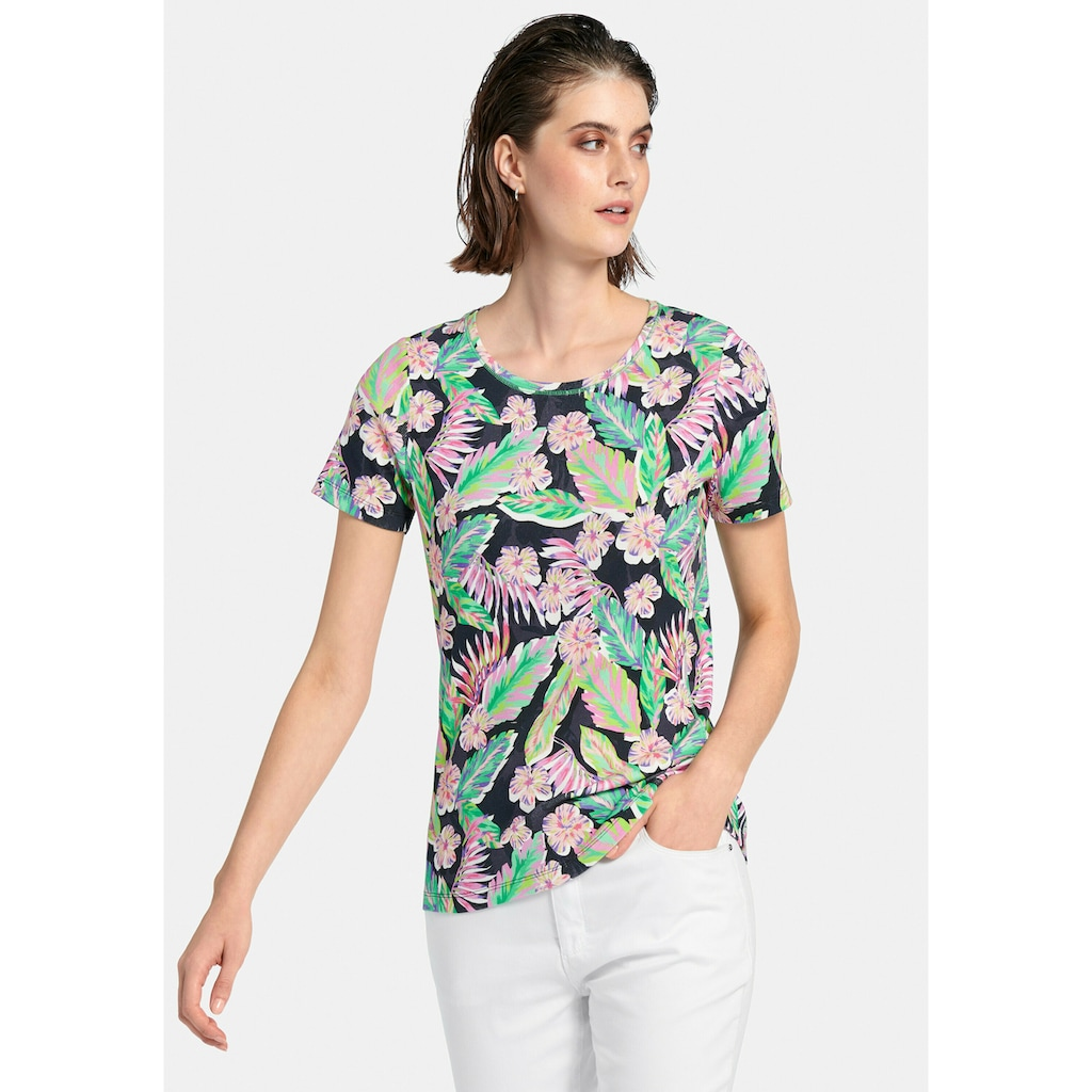 Looxent Rundhalsshirt »mit 1/2-Arm«, und Allover-Print
