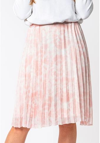 SUBLEVEL A-Linien-Rock, plissiert im Batik-Look kaufen