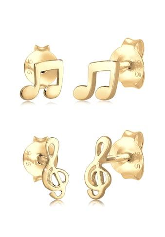 Elli Paar Ohrstecker »2er Paar Notenschlüssel Note Musik 925 Silber« kaufen