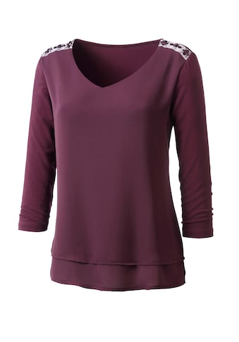 Classic Inspirationen Shirt  in trendigem Materialmix kaufen