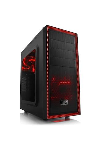 DeepCool Gehäuse, Sichtfenster, schwarz/rot, beleuchtet »Deepcool Tesseract« kaufen