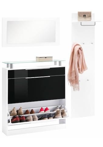 borchardt Möbel Garderoben-Set »Olivia«, (Set, 3 St.), (3-tlg.), stehender Schuhschrank kaufen