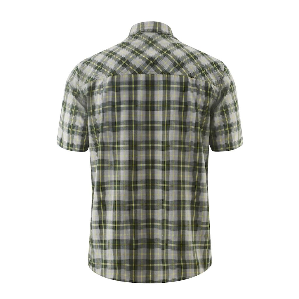 Maier Sports Funktionshemd »Mauro«, Kariertes Kurzarm-Hemd für Wandern, Reisen und Freizeit