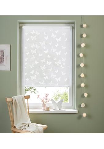 my home Seitenzugrollo »Schmetterling«, Lichtschutz, ohne Bohren, freihängend,... kaufen