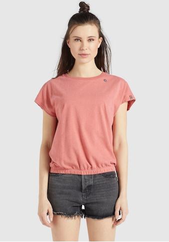 khujo T-Shirt »MARIKA«, Rundhals Shirt mit Gummizug am Saumabschluss kaufen
