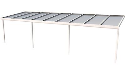 GUTTA Terrassendach »Premium«, BxT: 914x306 cm, Dach Polycarbonat gestreift weiß kaufen