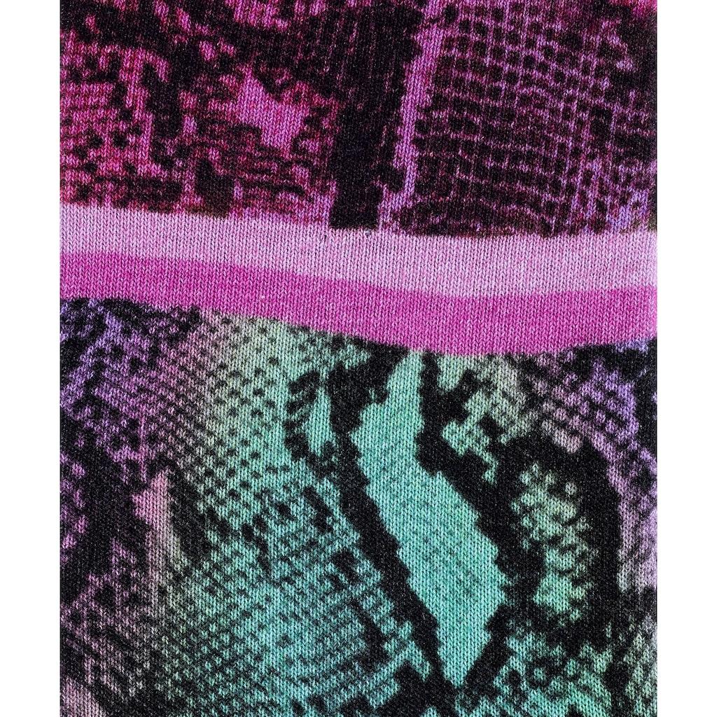 Burlington Socken »Snaky Print«, (1 Paar), mit angenehmer Baumwolle