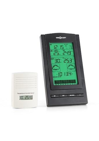 ONECONCEPT Wetterstation Alarm Batteriebetrieb 1 x Funk-Außensensor »Isfjorden« kaufen