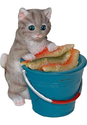 Casa Collection by Jänig Dekofigur »Katze am Eimer voller Fische«, stehend kaufen