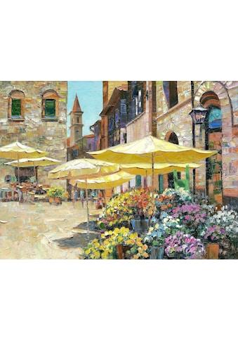 DELAVITA Kunstdruck »BEHRENS / Blumenmarkt in Siena«, (auf Leinwand 80/3,5/60 cm) kaufen