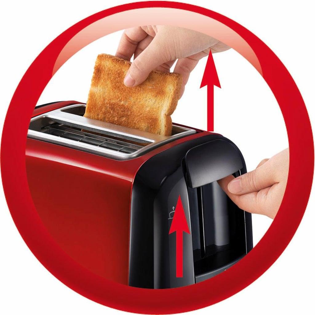 Moulinex Toaster »LT261D Subito«, 2 kurze Schlitze, für 2 Scheiben, 850 W, Anhebevorrichtung, 7 Bräunungsstufen, Krümelschublade