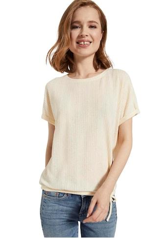 TOM TAILOR Denim T-Shirt, mit Bindeband am Saum kaufen