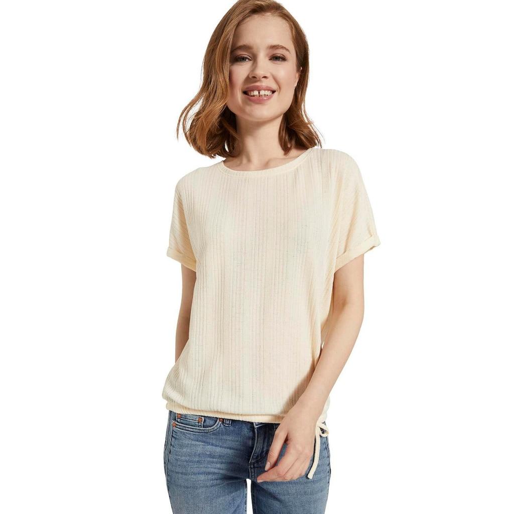 TOM TAILOR Denim T-Shirt, mit Bindeband am Saum